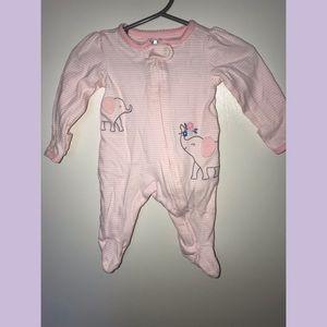Carter's Baby girl zip up sleeper